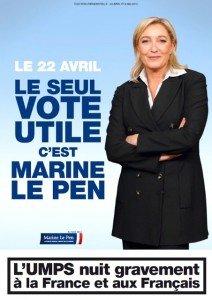 Au delà de la gauche et de la droite:  le 22 Avril, Marine Le Pen dans Loir et Cher Marine-Le-Pen-le-vote-utile-le-22-avril-2012-212x300