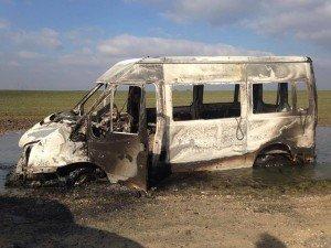minibus incendié Mer