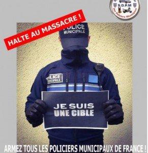 Policier municipal cible