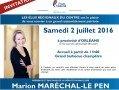 Marion Maréchal Le Pen en Région Centre-Val de Loire les 1er et 2 juillet.
