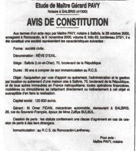 avis constitution RdE