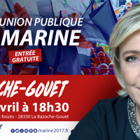 Rappel : Marine Le Pen lundi 3 avril à la Bazoche-Gouet