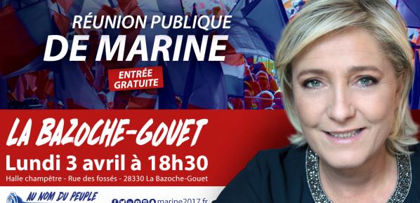 #Marine2017 : Marine Le Pen à la Bazoche-Gouet le 3 avril