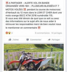 Vol motos Herbault