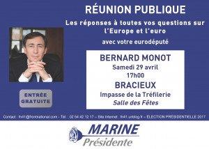 Affiche Réunion Publique Bernard MONOT