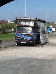 camion brûlé foire de Blois