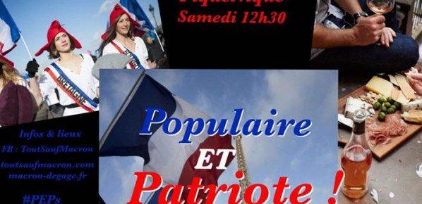#ToutSaufMacron : pique-nique populaire et patriote à Blois.