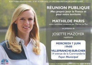 Flyer Réunion publique Villefranche sur Cher