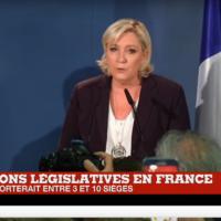 #Législatives2017 : déclaration de Marine Le Pen