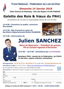 Galette des Rois FN41 14-01-2018