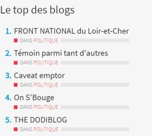 Top des blogs 2018-03-24