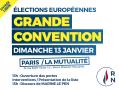 Elections européennes : lancement de la campagne dimanche à Paris.
