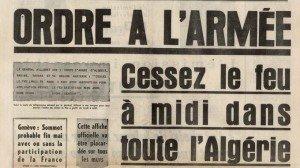 France Soir : cessez-le-feu en Algerie